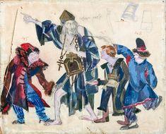 Эскиз костюмов «Юродивый и дети» для оперы «Борис Годунов». М.П. Мусоргского | Ф. Федоровский | 1927