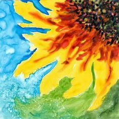 Day Six. 6 x 6 watercolor on Yupo. © 2015 Sheila Delgado