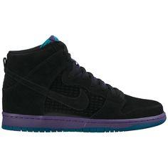 Nike Dunk High Premium SB Shoes - Black/Grape Ice/New Emerald