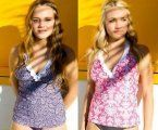 NEW RUFFLE LONG HALTER BABYDOLL TANKINI SWIMSUIT