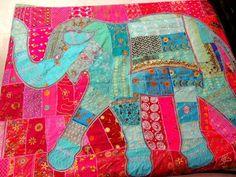 Shop large elephant patchwork tapestry bohemian embroidered queen bed cover blanket indian handmade patchwork bedspread vintage dorm tapestries on sale. Ceiling Tapestry, Dorm Tapestry, Indian Tapestry, Tapestry Wall Hanging, Tapestries, Elephant Bedding, Elephant Tapestry, Indian Bedding, Elephant Applique