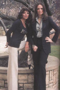 Rivales entre hermanas. Joan y Jackie Collins, grandes estrellas cada una en lo suyo.
