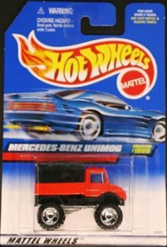 Mattel Hot Wheels 1999 1:64 Scale Red Mercedes Benz Unimog Die Cast Car Collector #1005 by Hot Wheels. $7.00. Red Mercedes Benz Unimog Mattel Hot Wheels 1999 1:64 Scale Die Cast Car Collector #1005. Mattel Hot Wheels 1999 1:64 Scale Red Mercedes Benz Unimog Die Cast Car Collector #1005