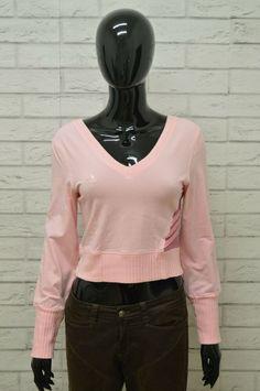 7e7a2139e5 Felpa ADIDAS Donna Taglia M Maglione Maglia Sweater Pullover Woman Rosa  Elastico