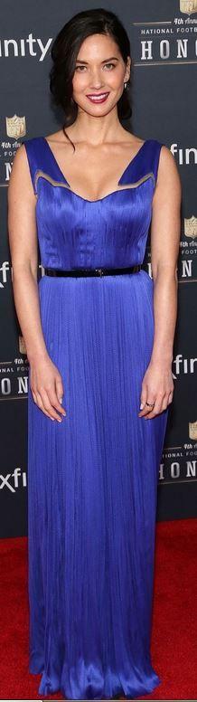 Olivia Munn: Dress – Maria Lucia Hohan  Shoes – Stuart Weitzman  ring – Melissa Kaye Jewelry  Earrings – Porter Lyons