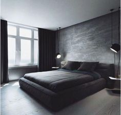 Schlafzimmer Dekor Black and white: the color combination for your bedroom - Modern master bedroom - Black Bedroom Design, Modern Master Bedroom, Small Room Design, Modern Bedroom Decor, Trendy Bedroom, Minimalist Bedroom, Bedroom Designs, Bedroom Black, Bedroom Ideas For Men Modern