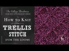 Day 9: How to Knit the Trellis Stitch {31 Days of Knitting} - The Vintage Storehouse & Company