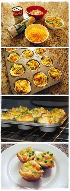 Chicken pot pie cupcakes - Cook Blog