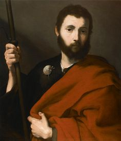 Saint James the Greater / Santiago el Mayor // // Jusepe de Ribera // Private collection Naples, St James The Greater, Web Gallery Of Art, St Jacques, European Paintings, Saint James, Caravaggio, Italian Artist, Image Collection