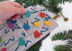 Quietbook Weihnachten Lichterkette von EmmyLou