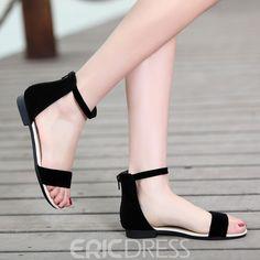 Cute Shoes Heels, Shoes Flats Sandals, Wedding Shoes Heels, Ankle Strap Sandals, Black Shoes, Black Flat Sandals, Cute Sandals, Fashion Slippers, Fashion Shoes