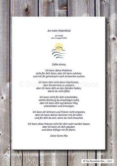 Weiteres - Patenbrief zur Taufe/Kommunion/Namensge... - #jugendweihe #Patenbrief #TaufeKommunionNamensge #Weiteres #zur