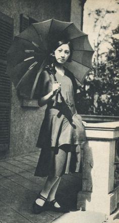 """taishou-kun: """" Young Moga in silk dress - Japan - 1931 Source Twitter @ oldpicture1900 """""""
