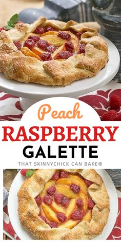Peach Raspberry Galette - A rustic tart that's as tasty as pie, but so much easier! An exquisite summer dessert! Pastry Recipes, Tart Recipes, Best Dessert Recipes, Fruit Recipes, Easy Desserts, Baking Recipes, Delicious Desserts, Yummy Food, Summer Desserts