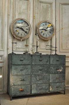 1900 metal painted industrial furniture From FarFetchers.com