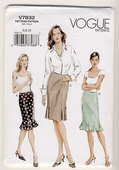 Vogue 7832 Misses SemiFittedStraight Skirt 3 by Noahslady4Patterns, $5.75