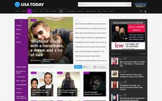 Joe & Jenelle with their ad on USAtoday