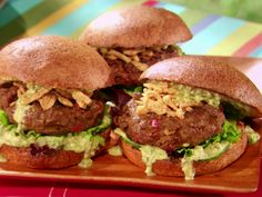 Malaysian Indian Curry-Spiced Beef Burgers recipe from Grill It! with Bobby Flay via Food Network