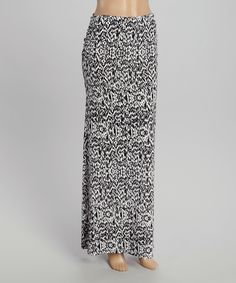 Loving this Black & White Abstract Maxi Skirt on #zulily! #zulilyfinds