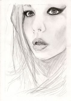 The sketch for girl   Girl sketch by gorylape