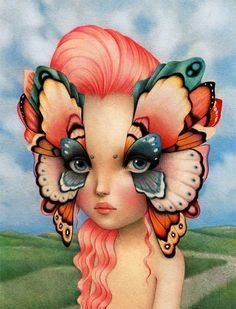 """""""Birdy"""" by Raul Guerra Giclee Fine Art Print - limited to 250 but avail in various sizes & formats Arte Lowbrow, Artist Profile, Pop Surrealism, Surreal Art, Dark Art, Art Pictures, Photos, Fantasy Art, Pop Art"""