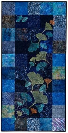 Ginkgo Dust Up 2009 Franki Kohler. Courtesy of the artist Portland Oregon. Art in Embassy exhibit. Small Quilts, Mini Quilts, Applique Quilts, Patchwork Quilting, Quilting Projects, Quilting Designs, Quilt Inspiration, Asian Quilts, Landscape Art Quilts
