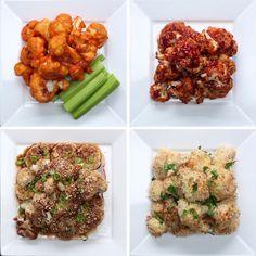 Cauliflower Bites 4 Ways