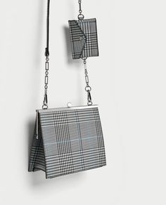 Image 1 of CHECKED CROSSBODY BAG WITH METAL CLASP from Zara