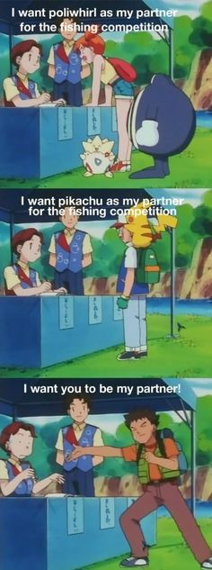 - Funny Pokemon - Funny Pokemon meme - - I want you to be my partner Brock hitting on every girl he comes into contact with misty poliwhirl ash pikachu brock pokemon The post Smooth Brock. appeared first on Gag Dad. Pokemon Memes, Gif Pokemon, Pokemon Comics, Pokemon Funny, Brock Pokemon, Pokemon Stuff, Pokemon Party, Pikachu, Digimon