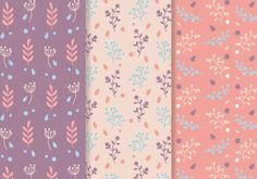 Three free seamless patterns of various plants and natural elements. Hope you enjoy it!