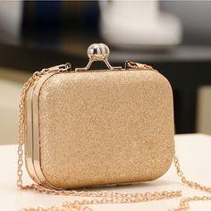 Elegant Mini Party Bag Clutch Women's Shinning Bag Golden/Blue