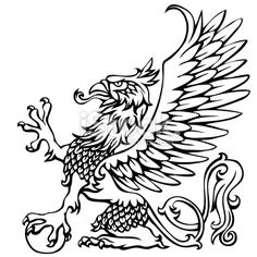 Heraldry griffin Royalty Free Stock Vector Art Illustration