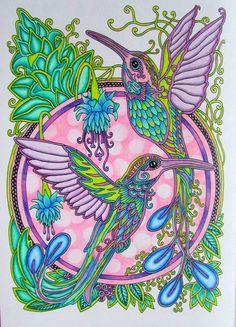 #ольгаголовешкина #ветеруноситцветы #колибри Bird Coloring Pages, Coloring Book Art, Adult Coloring Pages, Hummingbird Colors, Colored Pencil Techniques, Art Drawings For Kids, Colouring Techniques, Bird Pictures, Illustrations