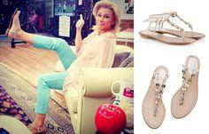 35b00a99ea3 Fratelli Karida Beige napa leather chain T-strap flat sandals
