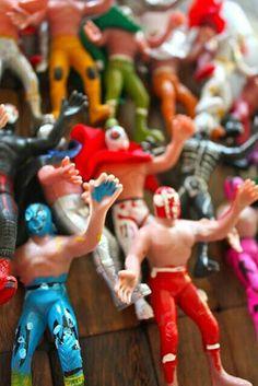 Luchadores de juguete