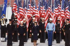 Navy Unit at the dedication of the Navy Memorial - October 13, 1987