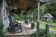 Cottage/Country Home --- At our place, Spring has sprung! Come visit our home and see what is popping up! Primitive Homes, Primitive Country, Outdoor Spaces, Outdoor Living, Outdoor Decor, Outdoor Life, Outdoor Ideas, Cabin Porches, Front Porches