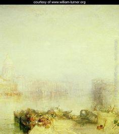 The Dogana and Santa Maria della Salute, Venice, 1843 - Joseph Mallord William Turner - www.william-turner.org