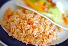 Mexican Rice is a great side dish for tacos, fajitas or enchiladas. It's super easy to whip together and uses very basic ingredients.