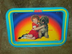 With my love of the 80's movie Annie, bought this sweet little lap TV tray of Annie & Sandy for my daughter. Of course she'd rather use the Spongebob one that is her brother's!!