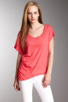 Capri Cotton Jersey Short Sleeve Top
