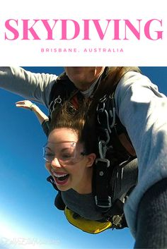 Skydiving in Brisbane, Australia! Take a peek behind the scenes of my first-ever jump. Click the image to read the details!