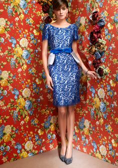 Vestido azul.