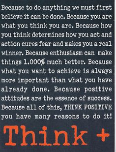 """It seems so silly: """"think positive,"""" but it really works...and it makes the E.D./ana/mia voice weaker..."""