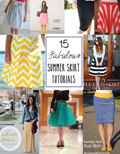 15 Fabulous Summer Skirt Tutorials for all your skirting need! #sewing #skirts #tutorials #summer