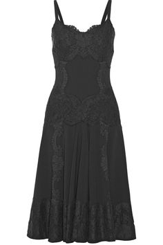 Dolce & Gabbana | Lace-appliquéd crepe dress | NET-A-PORTER.COM