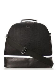 """SLVR BY ADIDAS 18"""" Black Mesh Handle Bag"""