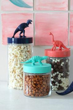 dinosaur treat jars