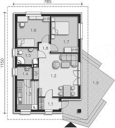 Ground floor plan of the project VII Lucca Modern Bungalow, Ground Floor Plan, Lucca, Floor Plans, Flooring, How To Plan, Interior, Indoor, Wood Flooring