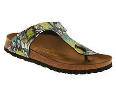 4123472bcc7 Papillio by Birkenstock Gizeh Feather Print Thong Sandals — QVC.com
